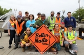 A group of the Better Naito set up volunteers